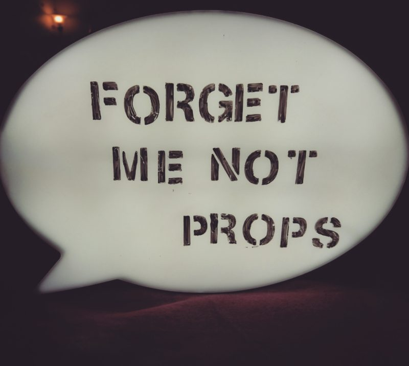 Forget Me Not Props