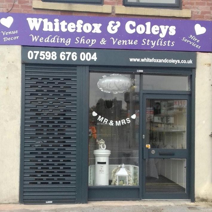 Whitefox & coleys wedding shop & venue stylists Leeds